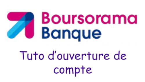Inscription boursorama banque