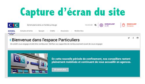 Accéder à l'espace client www.cic.fr