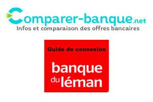 Connexion Banque du Léman application