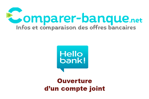 Compte joint Hello bank 2 cartes